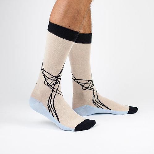 """Tvarios kojinės """"Nude tangle"""""""