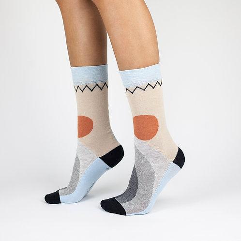 """Tvarios kojinės """"Grey rainbow"""""""