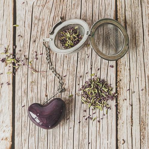 """Arbatos sietelis """"Violetinė širdis"""""""