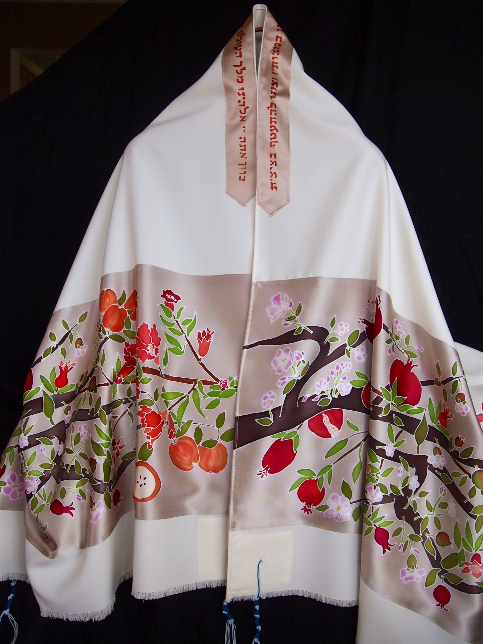 Apples and Pomegranates Silk Tallit