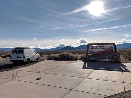 Arriving in Death Valley National Park