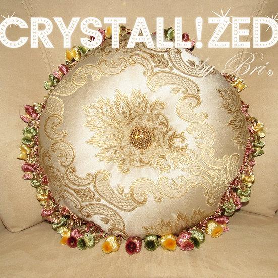 CRYSTALL!ZED Gold Circle Pillow