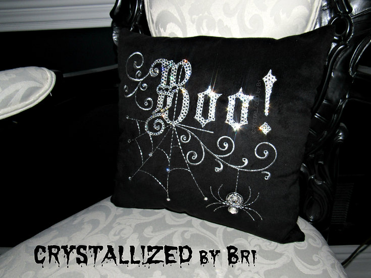 "CRYSTALL!ZED Halloween ""Boo!"" Pillow"