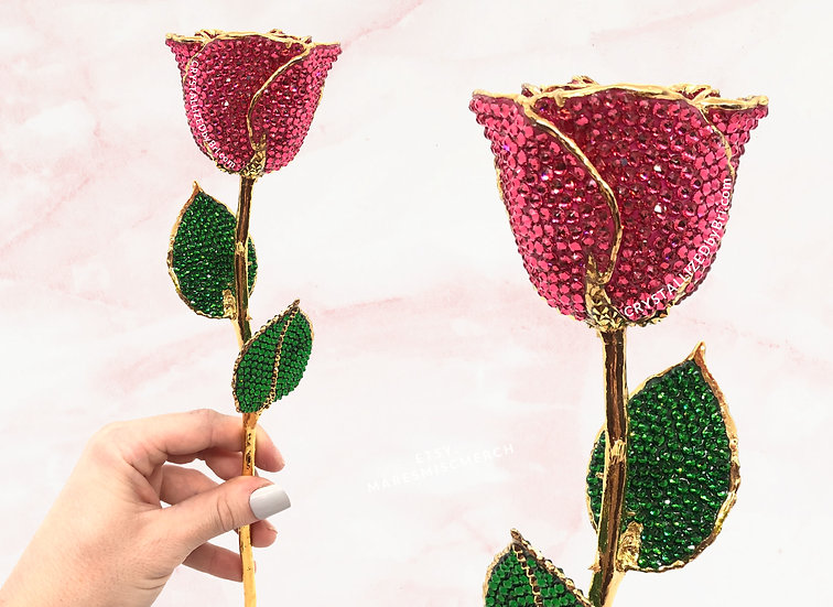 CRYSTALLIZED 24k Gold Dipped Rose