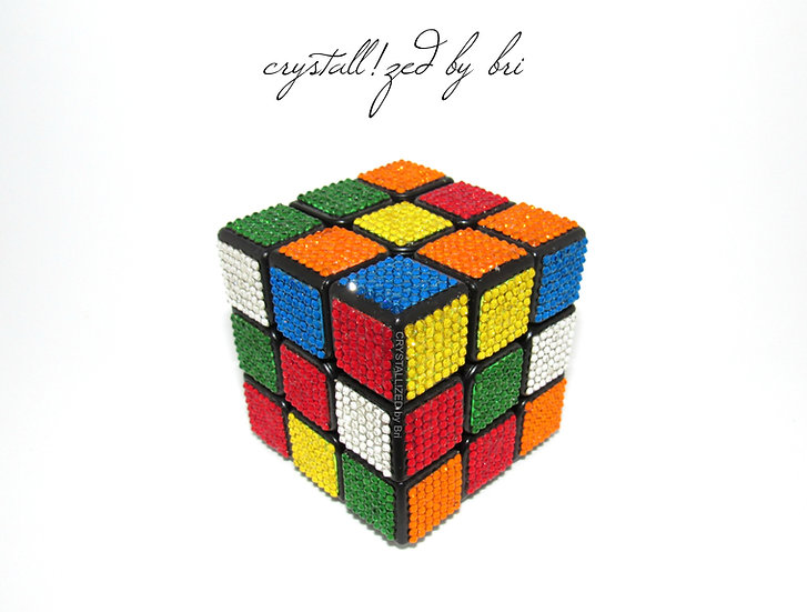 CRYSTALL!ZED Swarovski Rubik's Cube - Any Colors!