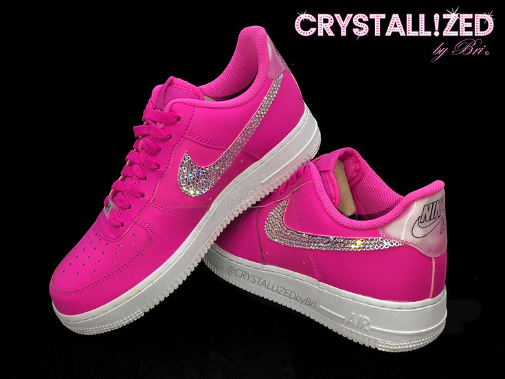 CRYSTALL!ZED Pink Nike's - Air Force 1
