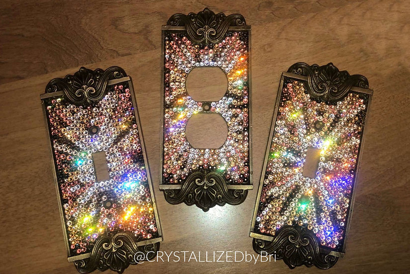 Fully CRYSTALL!ZED Switch Plate - Custom Design