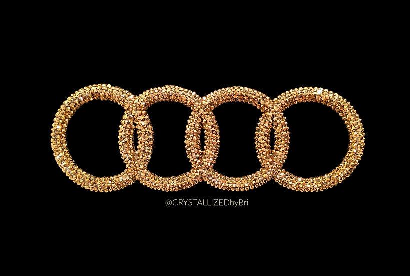 """CRYSTALL!ZED Audi Emblem - 11"""""""