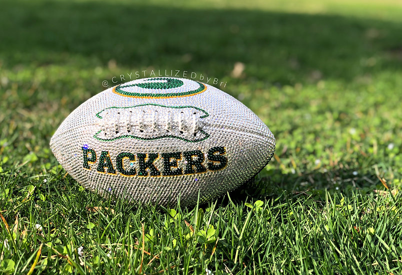 CRYSTALLIZED Full Size Football - Green Bay Packers