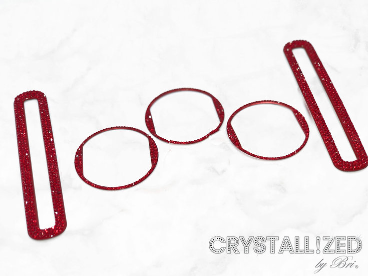 CRYSTALL!ZED Mustang Vent Surrounds - 5 Piece