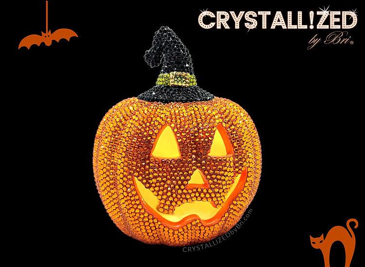 CRYSTALL!ZED Ceramic Pumpkin - Full Bling