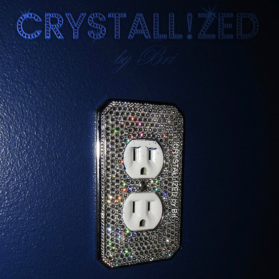 Fully CRYSTALL!ZED Switch Plate - Standard Outlet