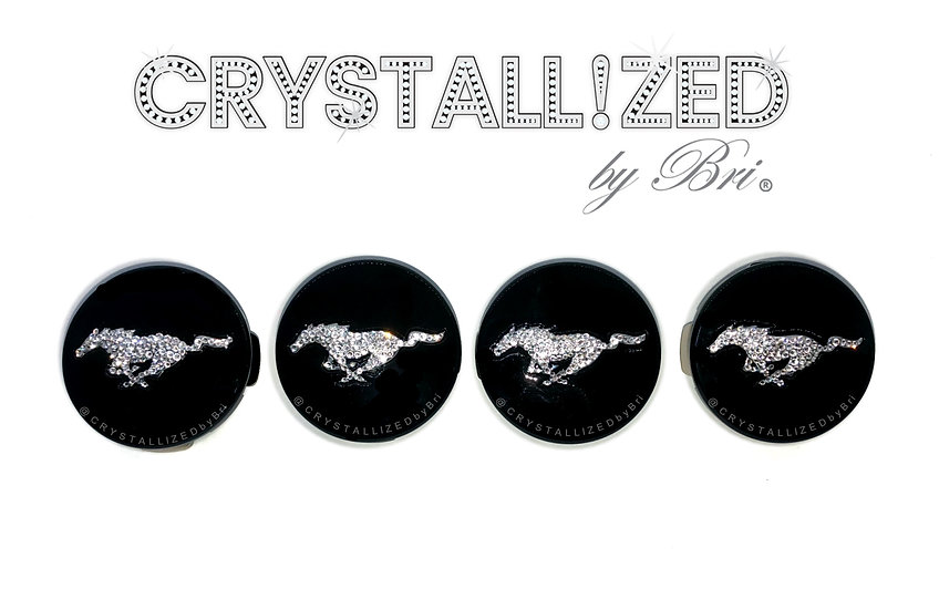 CRYSTALL!ZED Ford Mustang Wheel Center Caps - Set of 4