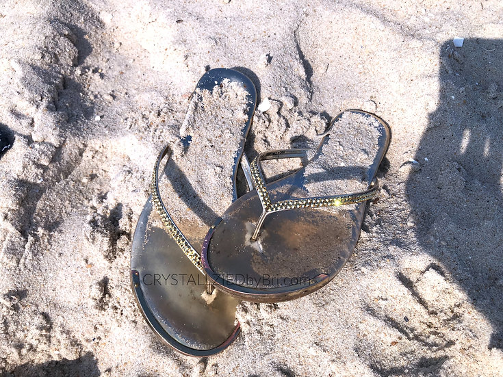 CRYSTALL!ZED Flip Flops - Tkees