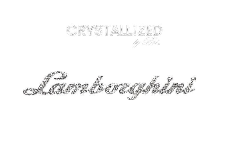 CRYSTALL!ZED Script Lamborghini Emblem - Rear