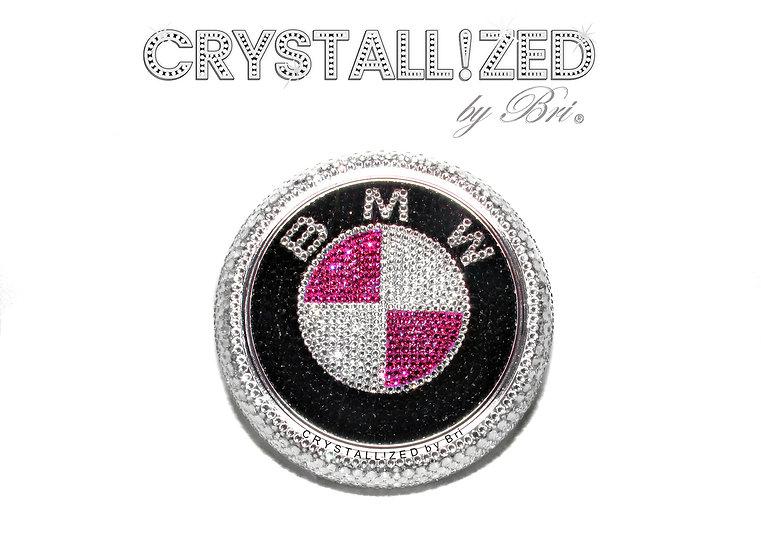 "Pink CRYSTALL!ZED BMW Emblem - 4"""