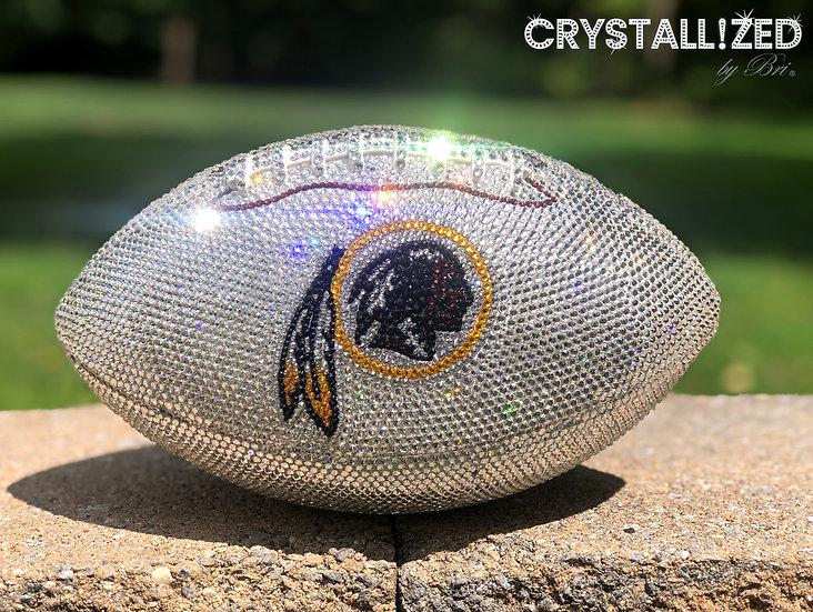 CRYSTALLIZED Full Size Football - Washington Redskins
