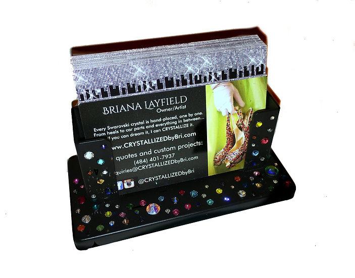 CRYSTALL!ZED Desk Business Card Holder