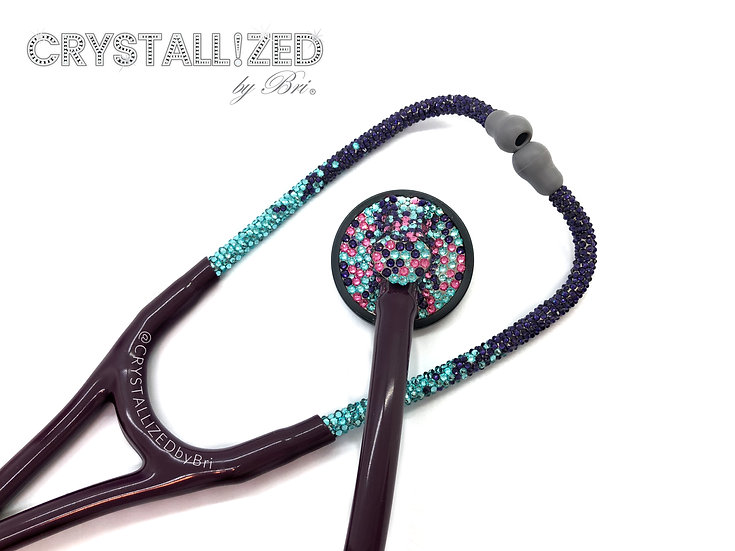 Ombre CRYSTALL!ZED Stethoscope - Littmann Master Cardiology