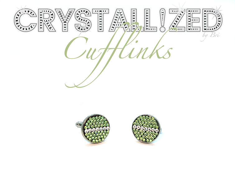 CRYSTALLIZED Cufflinks - Any Design