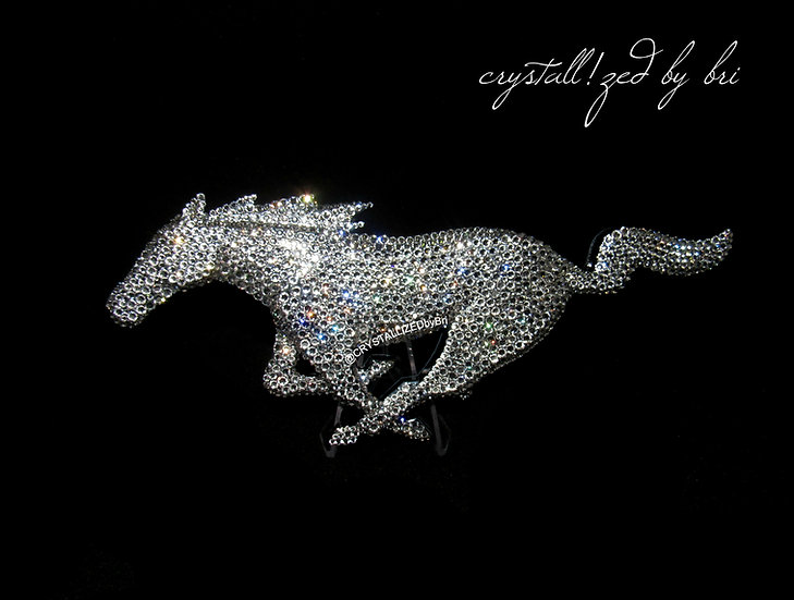 CRYSTALL!ZED Mustang Pony Emblem - Grille