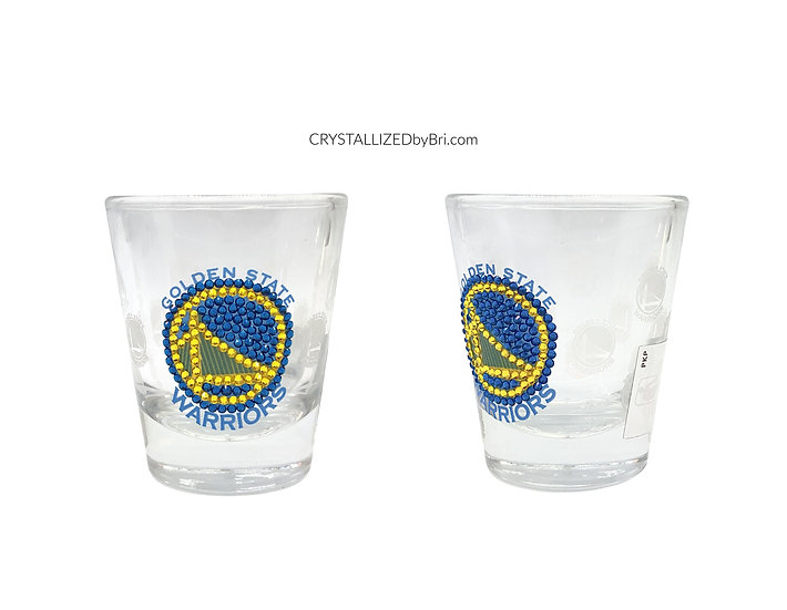 CRYSTALLIZED Shot Glass - Golden State Warriors