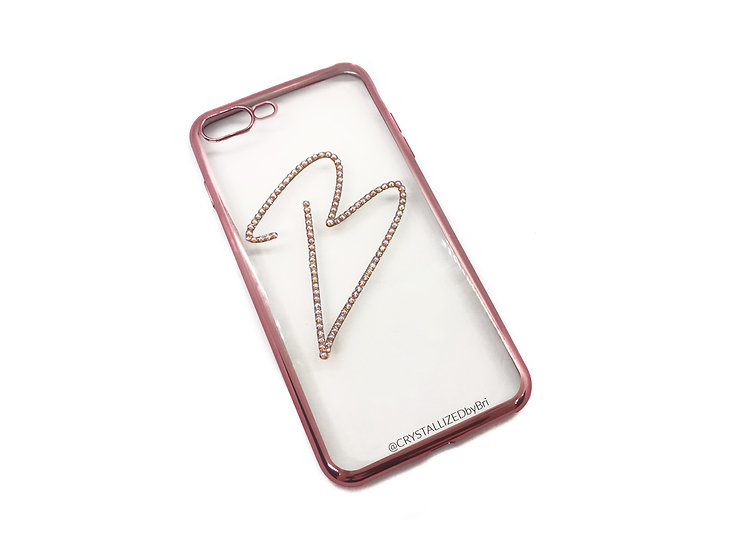 CRYSTALLIZED Transparent iPhone Case - Choose Your Initial!