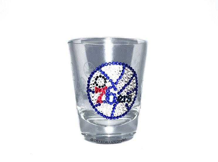 CRYSTALLIZED Shot Glass - Philadelphia 76ers
