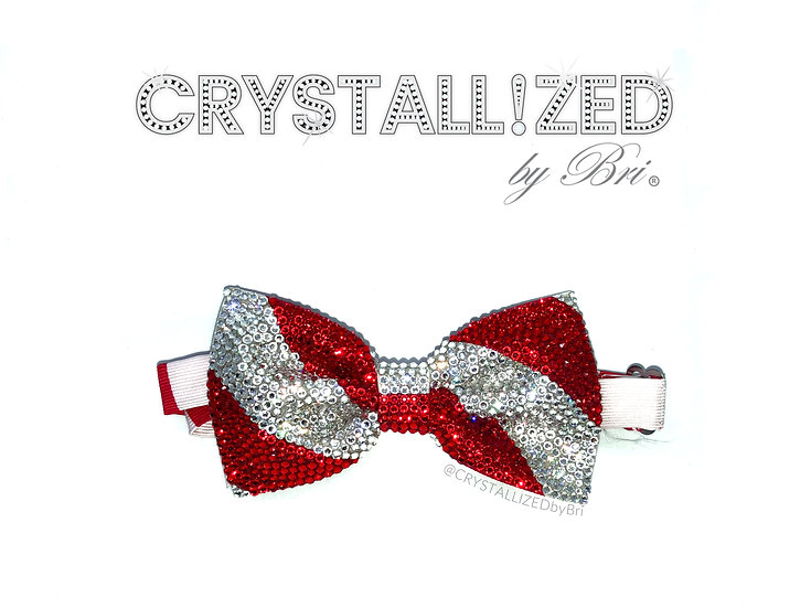 CRYSTALL!ZED Striped Bow Tie - Full Bling