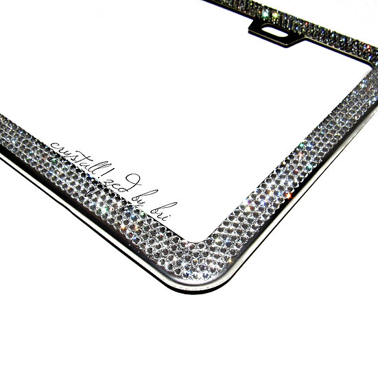 CRYSTALL!ZED Slim License Plate Frame - 4 Rows