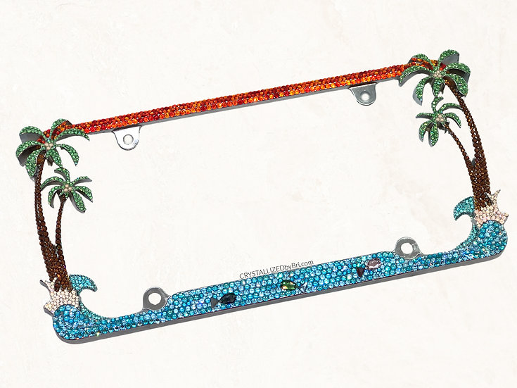 Tropical CRYSTALL!ZED License Plate Frame