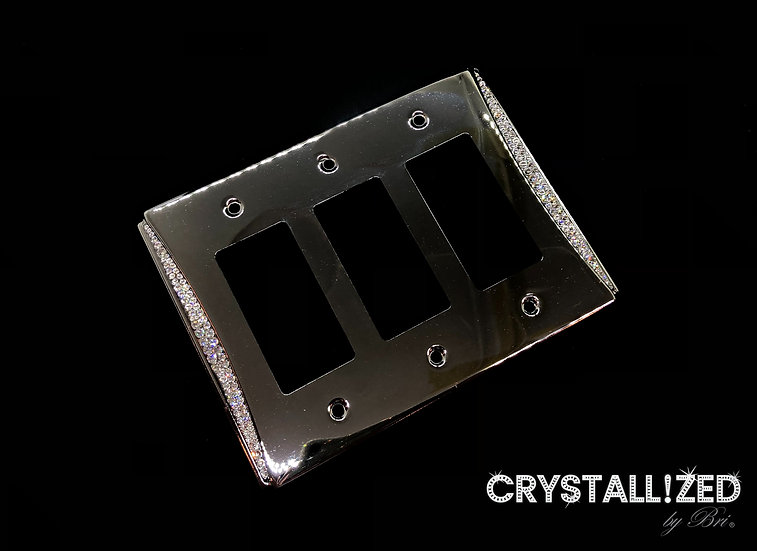Accent CRYSTALL!ZED Switch Plate - Triple Rocker