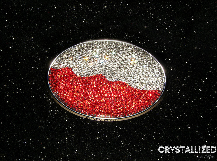 CRYSTALL!ZED Car Oval Emblem - Choose Your Flag