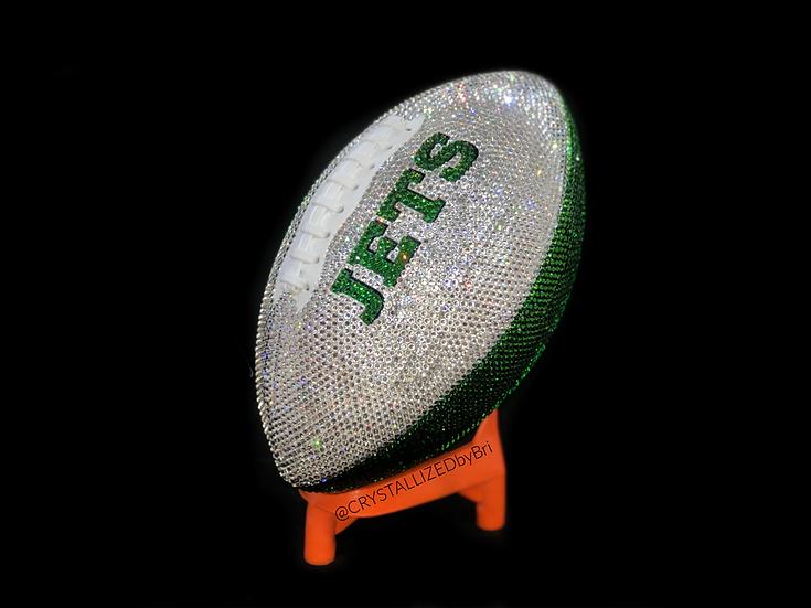 CRYSTALLIZED Full Size Football - New York Jets