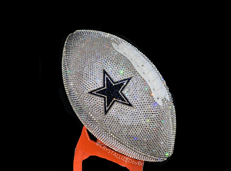 CRYSTALLIZED Full Size Football - Dallas Cowboys
