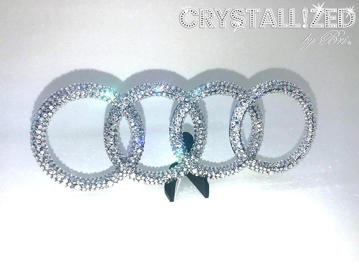 """CRYSTALL!ZED Audi Emblem - 12"""""""