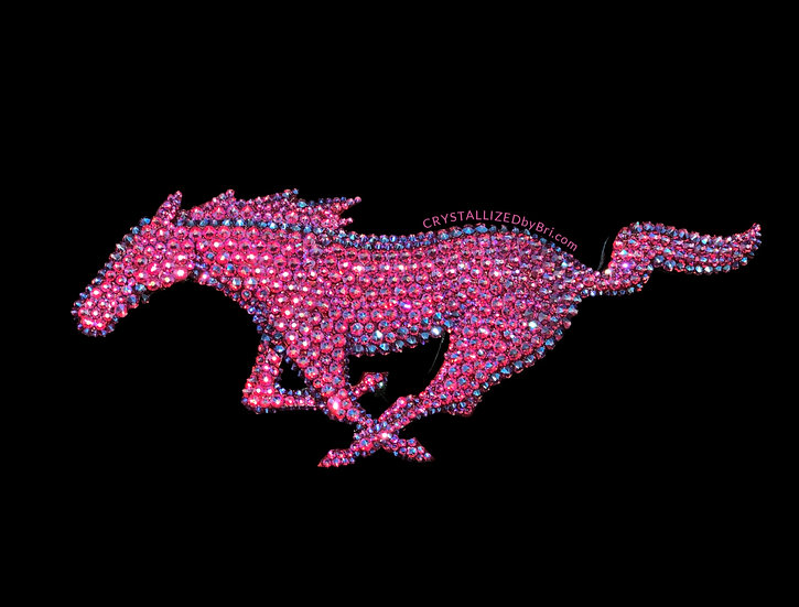 Pink CRYSTALL!ZED Ford Mustang Pony Emblem