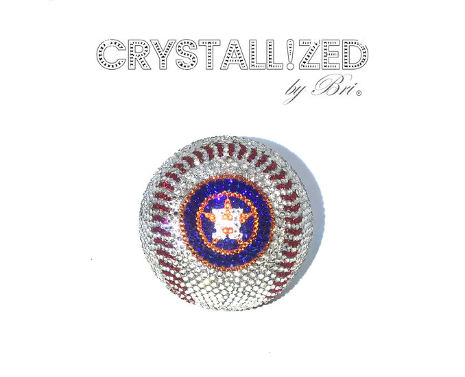 CRYSTALLIZED Full Size Baseball - Houston Astros