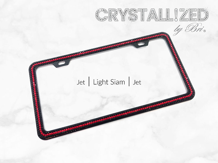 CRYSTALL!ZED Slim License Plate Frame - Striped