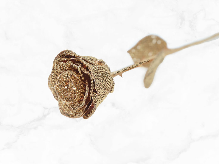 """Long Stem CRYSTALLIZED Rose - 18"""""""