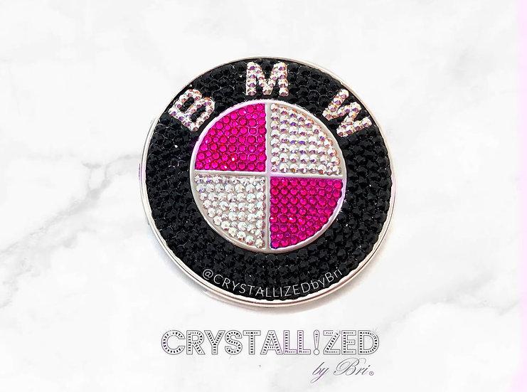 "Pink CRYSTALL!ZED BMW Emblem - 2 7/8"""