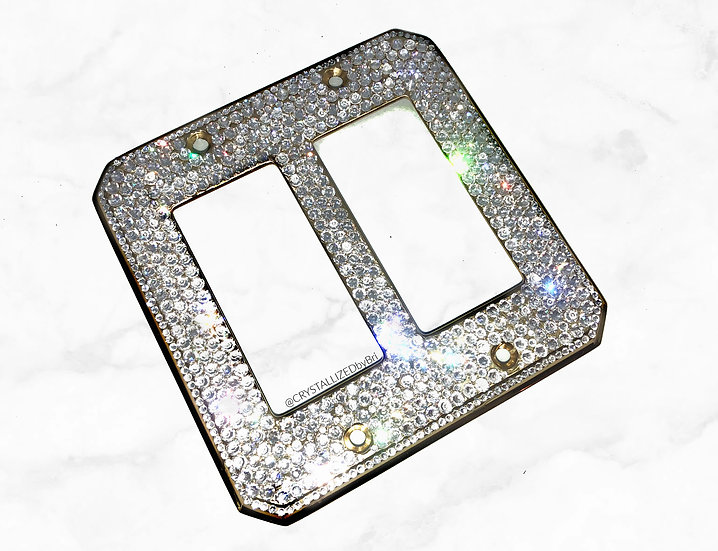 Fully CRYSTALL!ZED Switch Plate - Double Rocker