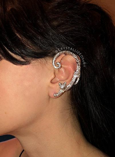 CRYSTALL!ZED Cat Ear Cuff - Pierced