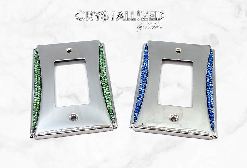 Accent CRYSTALL!ZED Switch Plate - Single Rocker