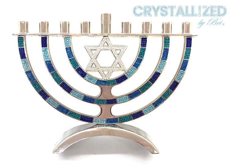 CRYSTALL!ZED Menorah Candle Holder