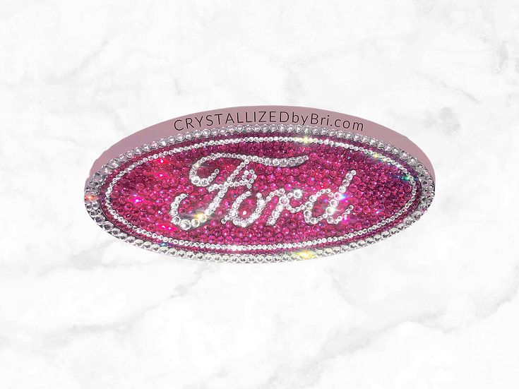 Pink CRYSTALL!ZED Ford Emblem - Oval