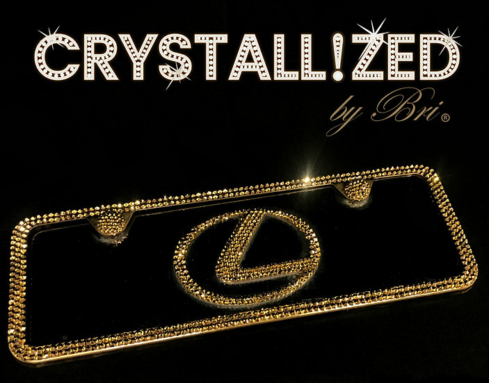 CRYSTALL!ZED Front Vanity Plate with Car Emblem