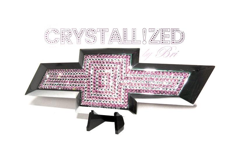 "CRYSTALL!ZED Chevy Bowtie Emblem - 8""x2.5"""