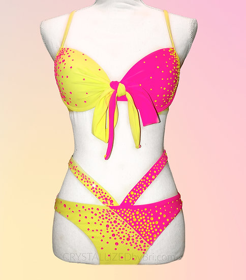 Custom CRYSTALLIZED Neon Bikini