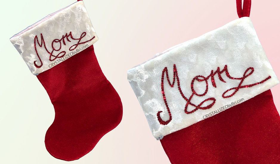 CRYSTALL!ZED Christmas Stocking - Personalize It!